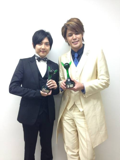 Yuki Kaji and Mamoru Miyano at the 8th Seiyuu Awards