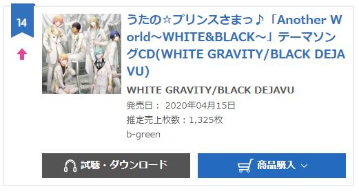 Another World~WHITE&BLACK~Theme song CD