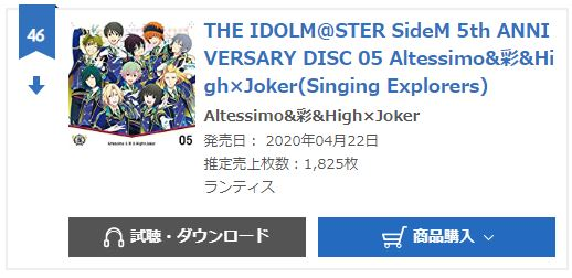 SideM 5th anniversary vol.5 oricon monthly