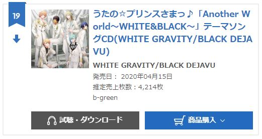 WHITE GRAVITY and BLACK DEJAVU oricon monthly