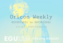 oricon weekly 1st week May 2021