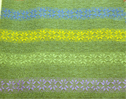 Image result for weaving patterns green and yellow