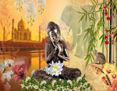 Mona Lisa Diamond Painting Set Buddha Lotus S474   Nu online bestellen bij handwerk-hobbyzaak.nl - handwerk-hobbyzaak