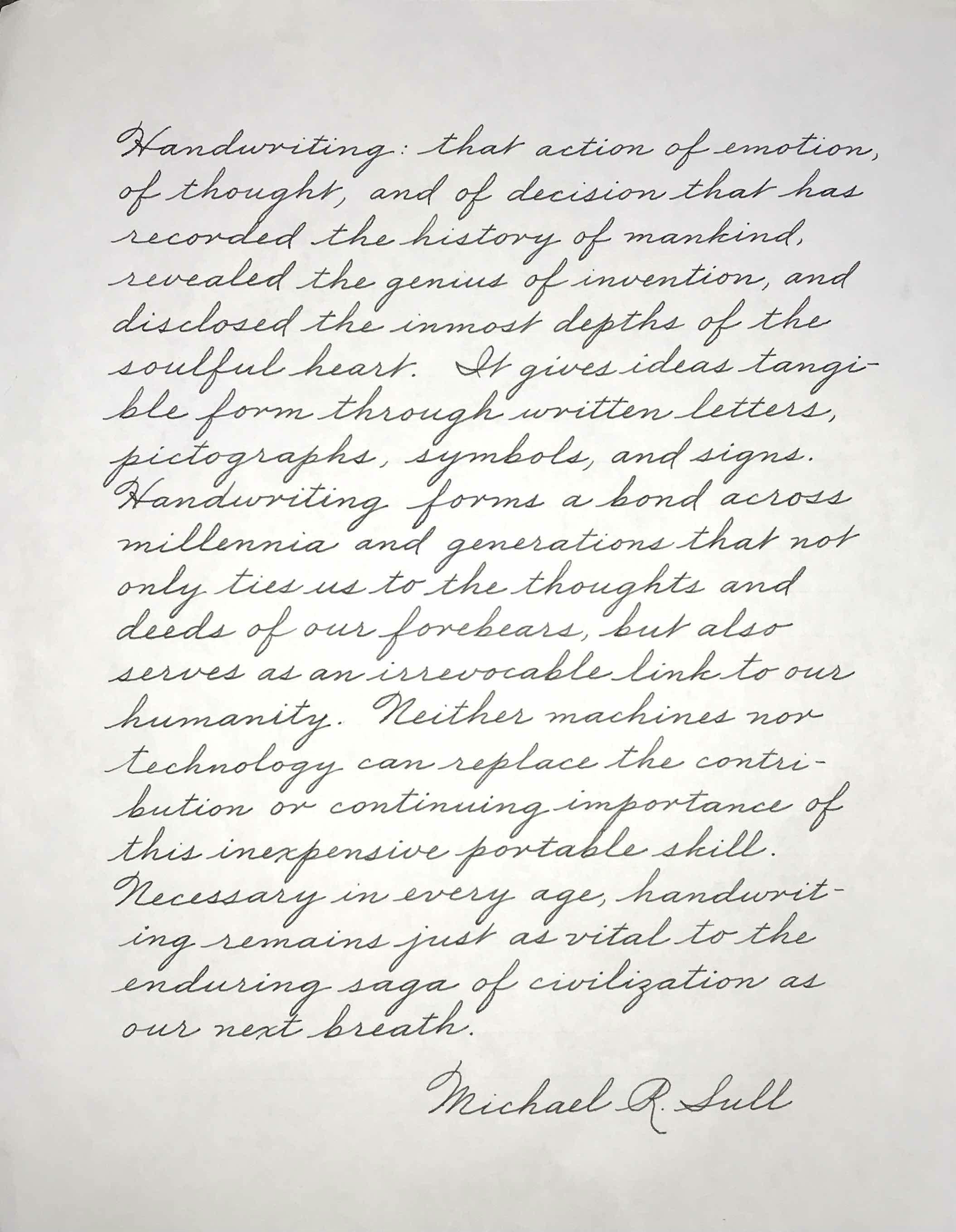 Handwriting Adults