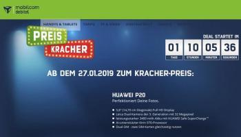 mobilcom-debitel Preiskracher - Das Huawei P20 für nur 411 Euro ohne Vertrag