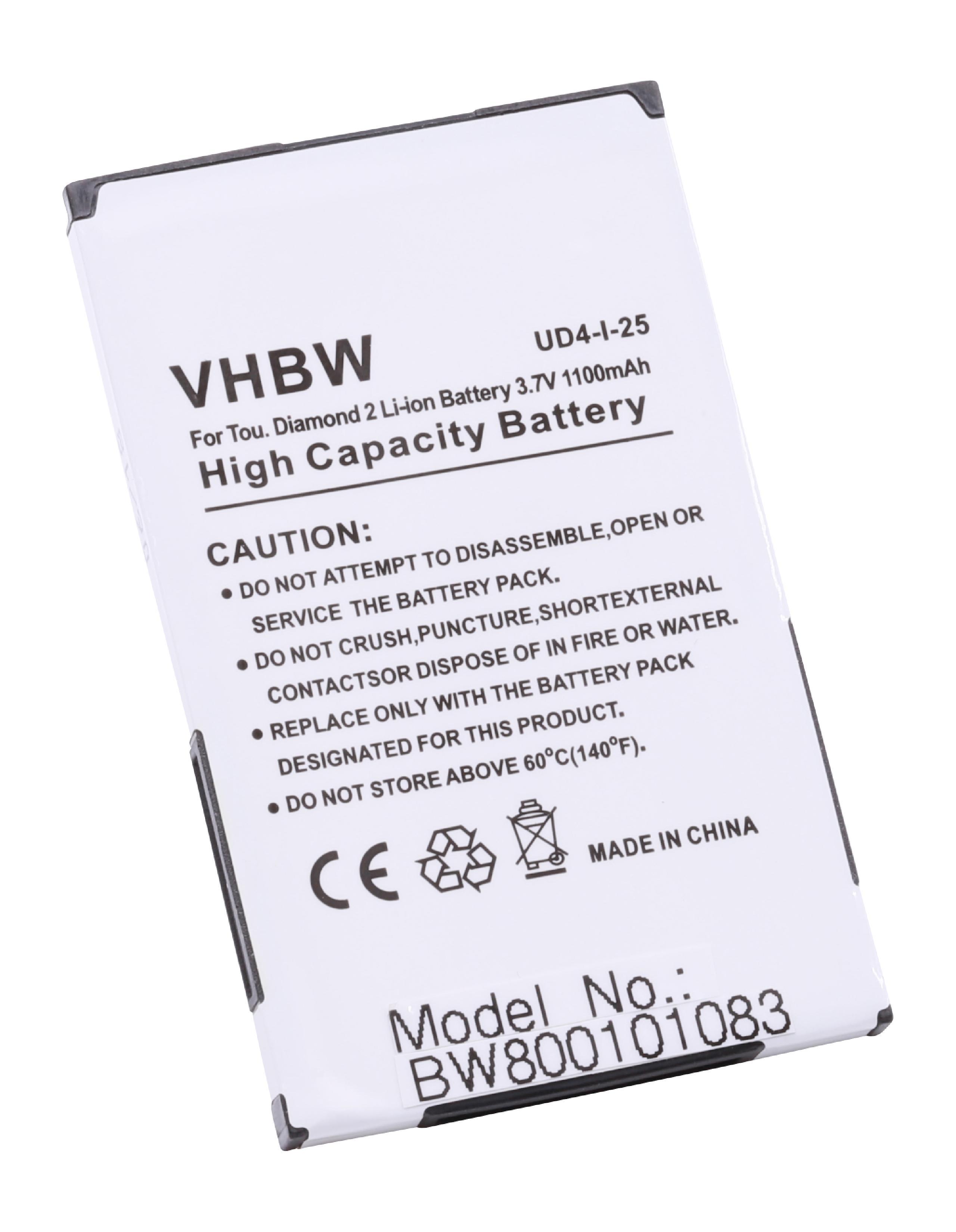 Akku für T-Mobile MDA Compact 5, Compact V 1100mAh 3,7V Li