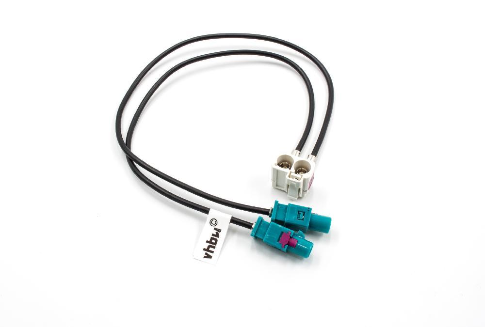 Doppel-Fakra Adapter 90° weiblich 20cm für Radio-Typen