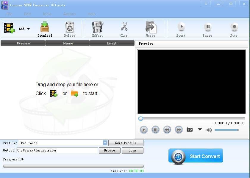 Lionsea WEBM Converter Ultimate 4.3.6 - WEBM Converter convert WEBM format.