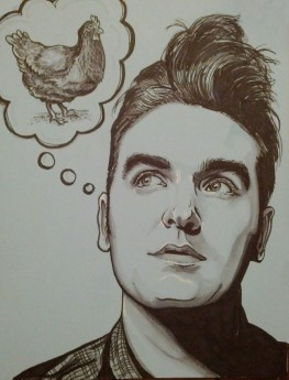 {morrissey and the chicken} day 47