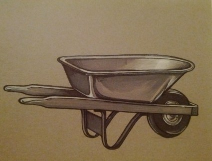 {wheelbarrow} day 134