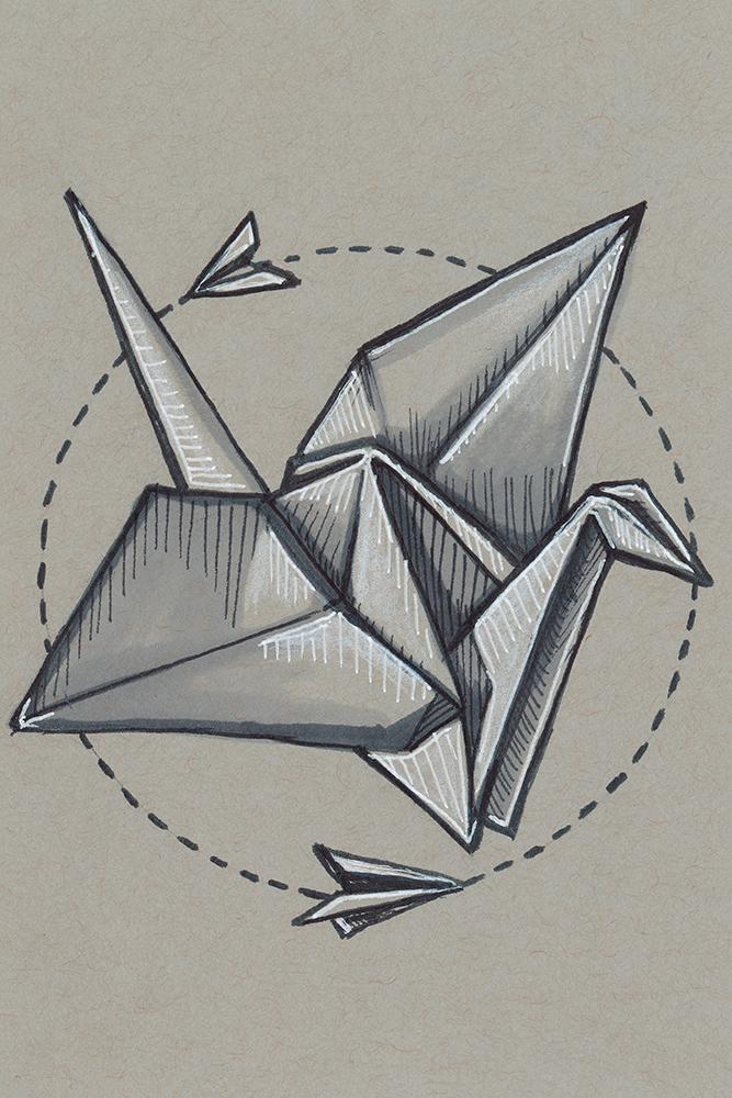 Day Six Paper Crane Ella Nilsson