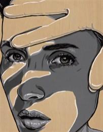 "She Block 11x14"" Acrylic on birch paneled canvas"