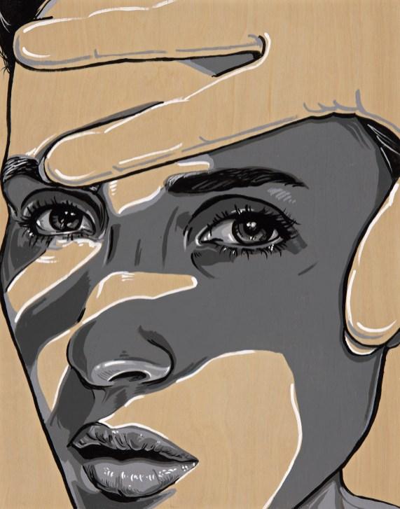 "*SOLD She Block 11x14"" Acrylic on birch paneled canvas"