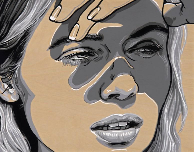 "*SOLD She Cast 14x11"" Acrylic on birch paneled canvas"