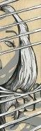 "*SOLD She Peek 3x9"" Acrylic on Birch Panel"
