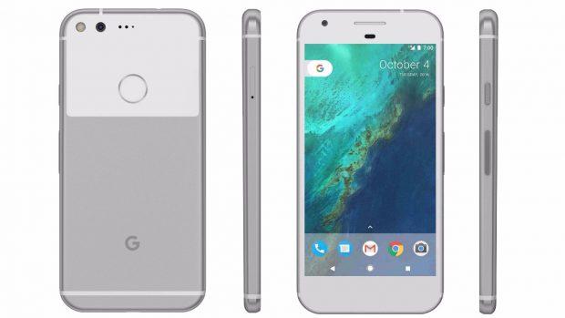 Google Pixel in Silber
