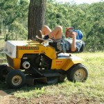 This isn't our callers mower. Not sure its going to start like this!
