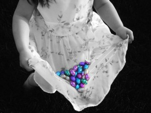 Easter Girl with candy
