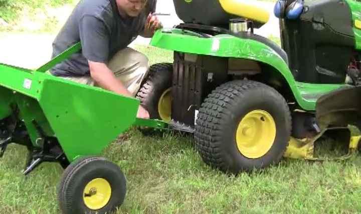 John Deere tractor accessories, aerator