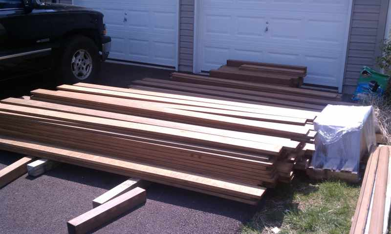 Load of Ipe for Brian's Deck