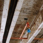 Sprinkler rough-in ceiling