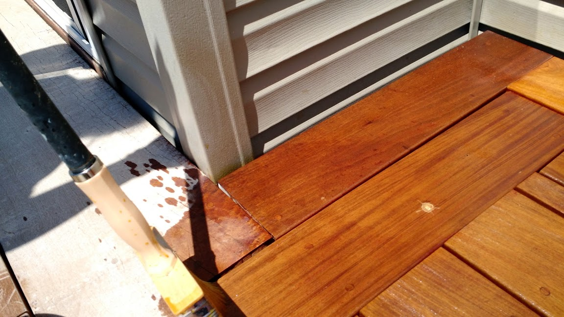 Apply oil to Ipe Deck for annual ipe deck maintenance