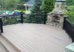 Clay Colored Composite Deck
