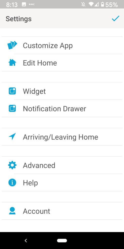 Caseta App Settings