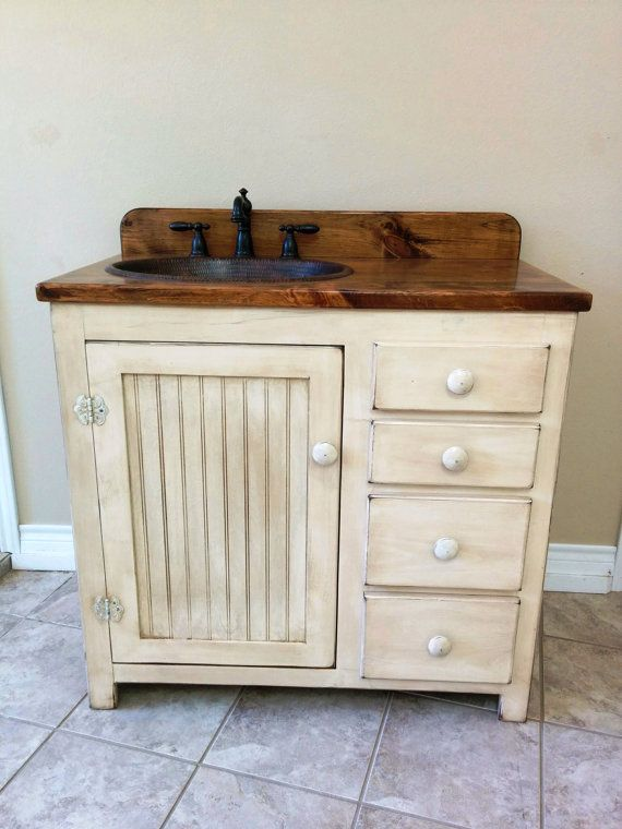 Vintage Country Cottage Bathroom Vanities and Cabinetry