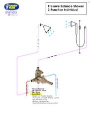 Ammara Valve 3, Pressure Balance Shower, 2 Function Individual