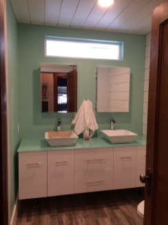 After - Spacious double-vanity bathroom
