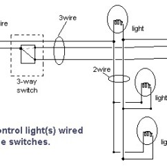2 Light Switch Wiring Diagram 12v Solar Panel Handymanwire A 3 Way Or 4 Lights Between Switches