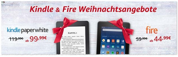 Kindle Paperwhite Weihnachtsangebot 2016