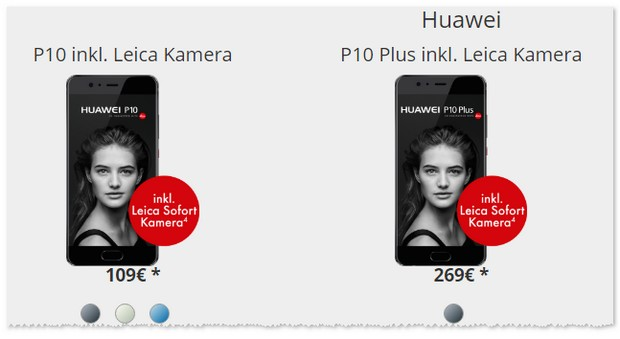 Vodafone Young M und Huawei P10 Plus