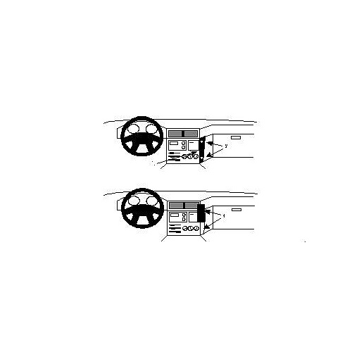 851963 Brodit ProClip für BMW 5er (E34), ab Bj. 1988 bis