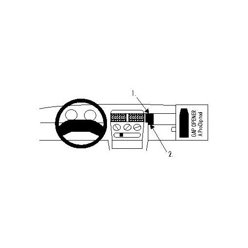 852022 Brodit ProClip für Opel Corsa B, ab Bj. 1993 bis
