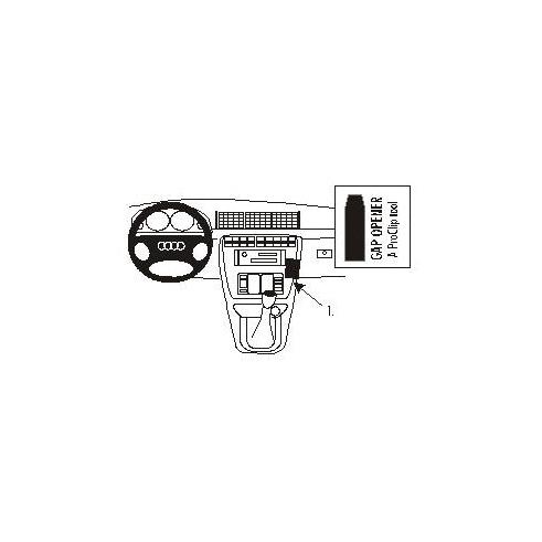 852798 Brodit ProClip für Audi A4 (B5 Facelift), ab Bj