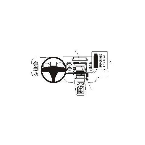 853610 Brodit ProClip für VW Golf 5 Plus, ab Bj. 2005 bis