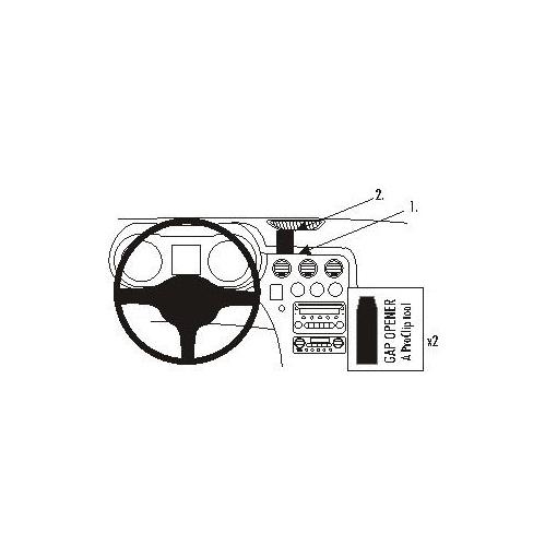 853743 Brodit ProClip für Alfa Romeo Spider, GTV, ab Bj