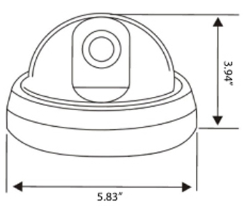 Vandalproof Dome Security Camera