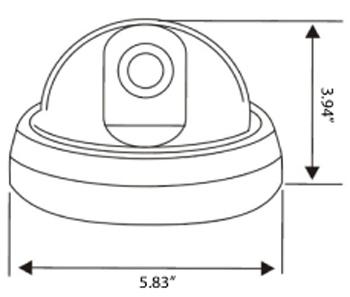 Vandalproof Dome Security Camera