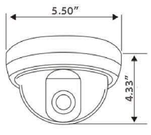 Weather Proof Infrared Dome Camera