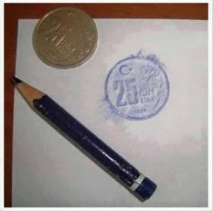 Bozuk Para Resim Sanatı Örneği