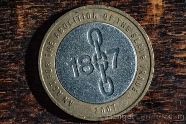£2 Coin Slavery Coin 1807