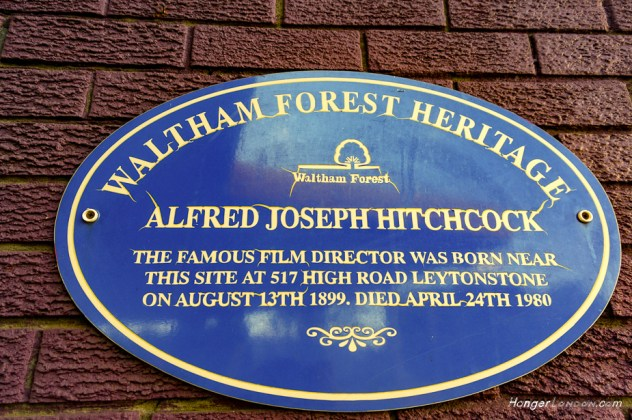 Hitchcock Birth place plaque Leytonstone