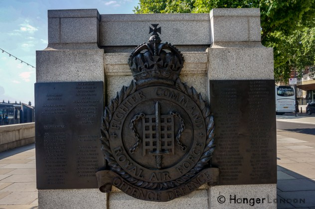 The Emblem for RAF Fighter Command. Battle of Britain monument by Paul Day Located on the Embankment