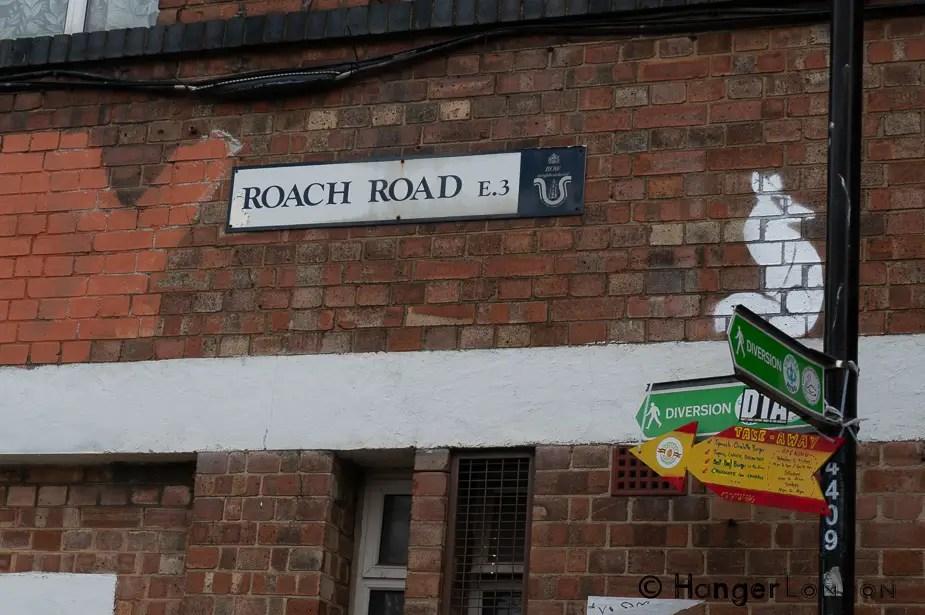 Roach Road sign Fish Island