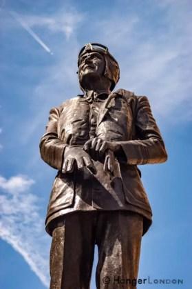 "Keith Park statue Defender of London, ""Skipper"" Air Marshal RAF"