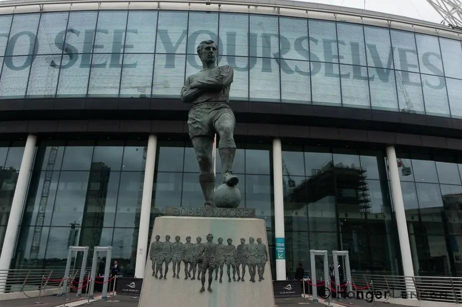 Wembley Stadium Front entrance Bobby Moore Statue
