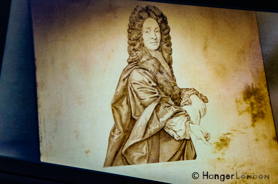 Christopher Wren that appeared on the back of the £50 bank note . As seen in the Bank of England Museum
